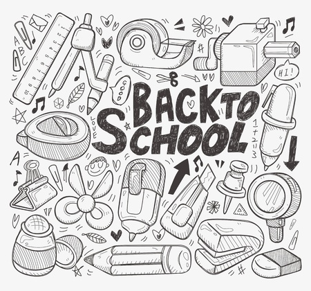doodle back to school element Vector