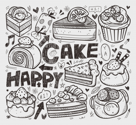 doodle cake element
