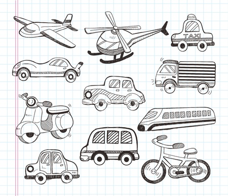 set of transport icons 向量圖像