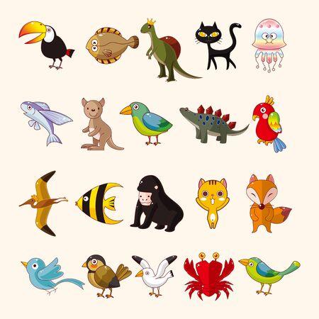 Conjunto de iconos de animales Foto de archivo - 20513293