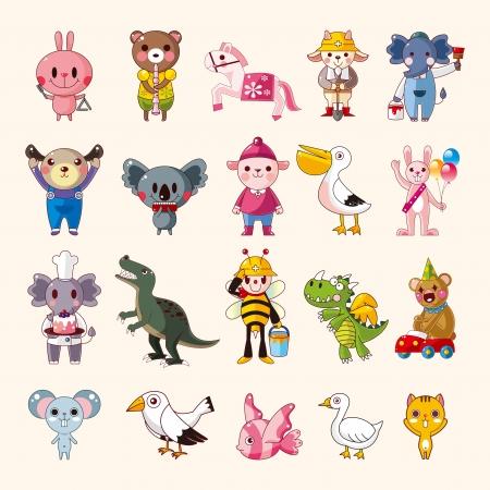 bird wings: set of animal icons