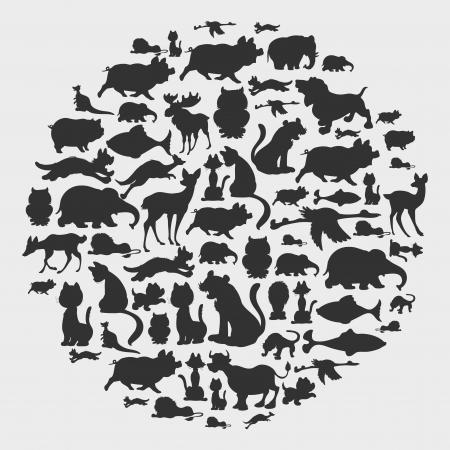dog summer: animal circle pattern