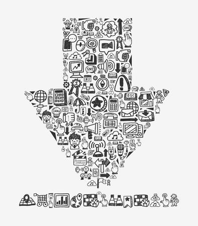 doodle pattern -  web download Stock Vector - 20782646