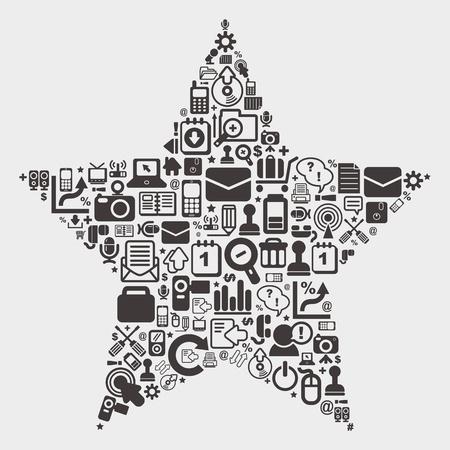 web star pattern Stock Vector - 21012550