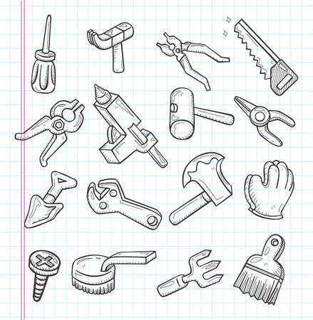 doodle tools icon Stock Vector - 21010758