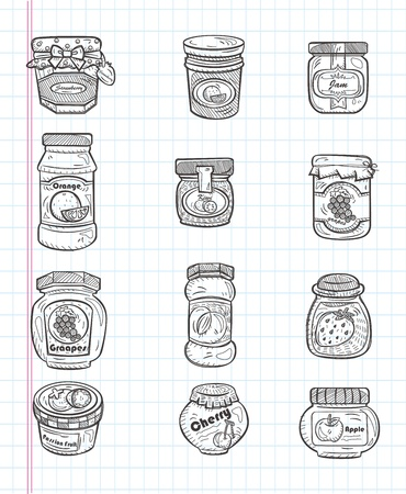doodle jam icons Vector