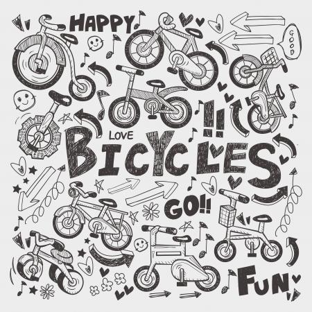 doodle bike element Stock Vector - 21410633
