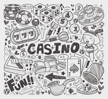 doodle casino element Vector