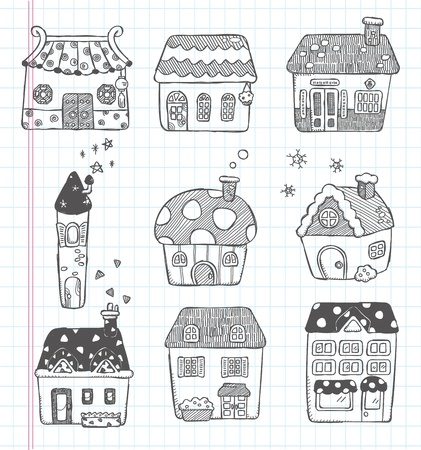 doodle house icon Vector