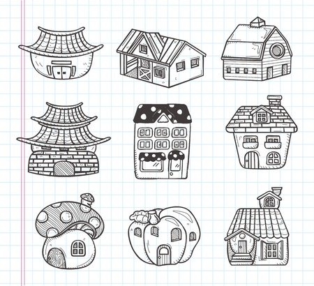 church building: doodle house icon