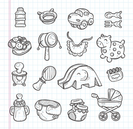 kids toys: hand draw baby element