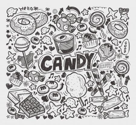algodon de azucar: elementos dulces garabato