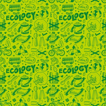 seamless ecology pattern Vector