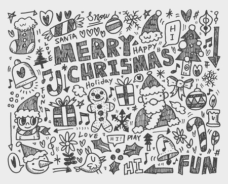 Doodle Christmas background Vector
