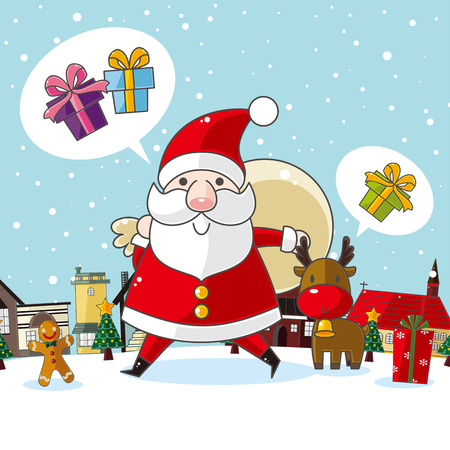 Christmas and New Year card Vectores