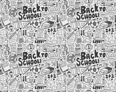 seamless doodle back to school pattern Stock Vector - 22474227