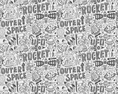 Seamless pattern spazio di doodle Archivio Fotografico - 22474229