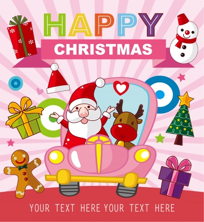 Christmas and New Year card Stock Vector - 22474231