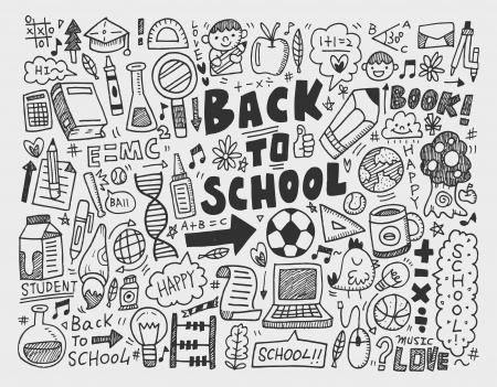 hand draw doodle school element Stock Vector - 22474243