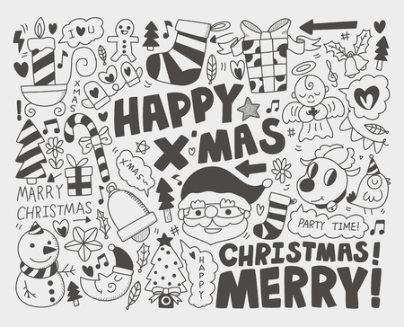 Doodle Christmas background Stock Vector - 23201860