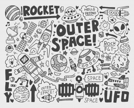 doodle space element Stock Vector - 22772261