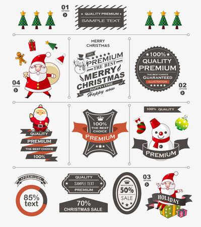 Christmas vintage banner Stock Vector - 22772265