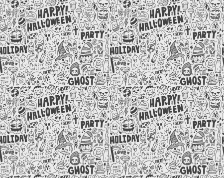 seamless doodle halloween holiday background Stock Vector - 22772271