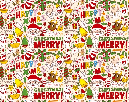 seamless Christmas pattern background Stock Vector - 22772278