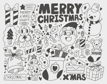 Doodle Christmas background Stock Vector - 22772325