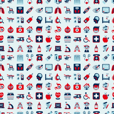 seamless retro Medical pattern Vector