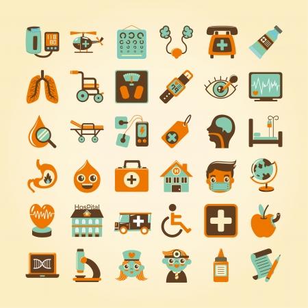 bladder: Medical icons set,