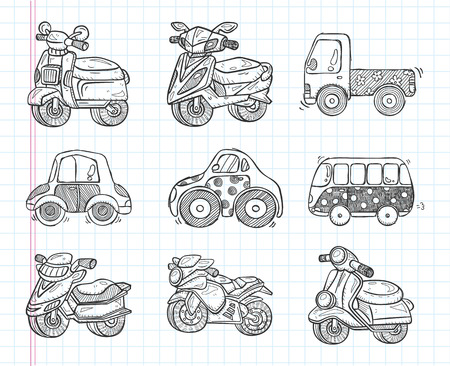 hand truck: doodle transport  icon