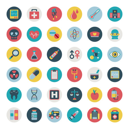 medical icons: Set of flat Medical icons