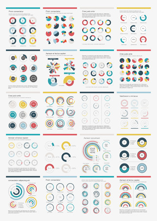 Infographic Elements Big chart set icon