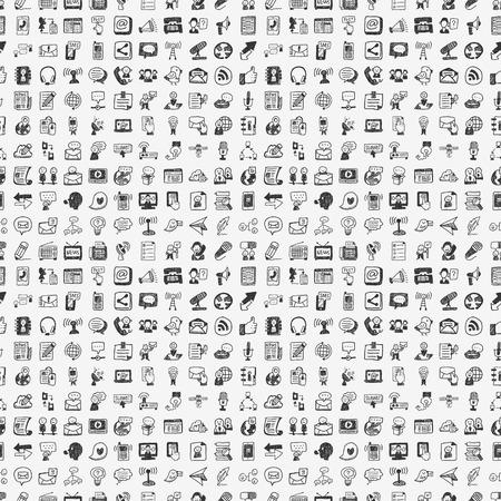 Naadloze doodle communicatie patroon Stockfoto - 24391326