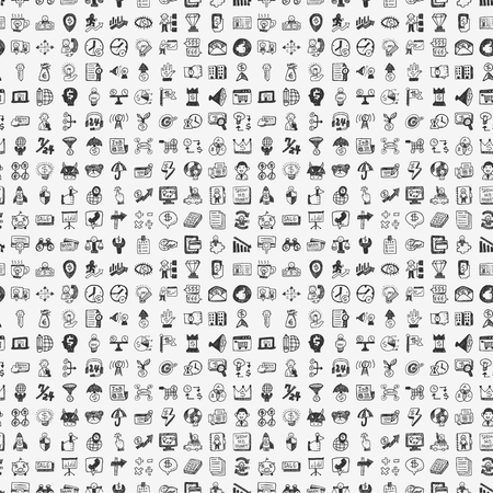 seamless doodle business pattern Vector