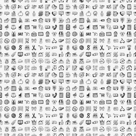 シームレスな落書きショッピング パターン 写真素材 - 24751327