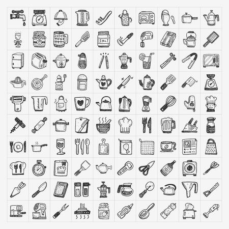 Doodle Symbole Kuche Lizenzfrei Nutzbare Vektorgrafiken Clip Arts
