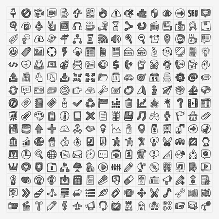 250 doodle web icon Imagens - 26572978