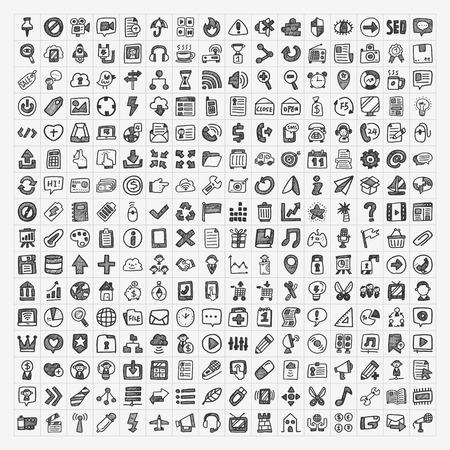 250 doodle web pictogram