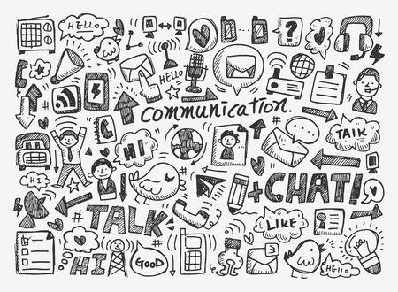 Doodle communicatie achtergrond Stockfoto - 26831107