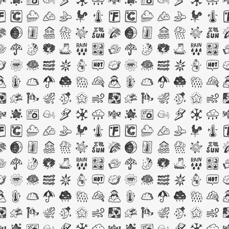 weather forecast: seamless doodle weather pattern