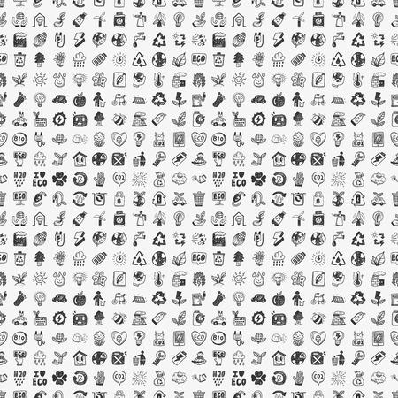 naadloze doodle eco patroon