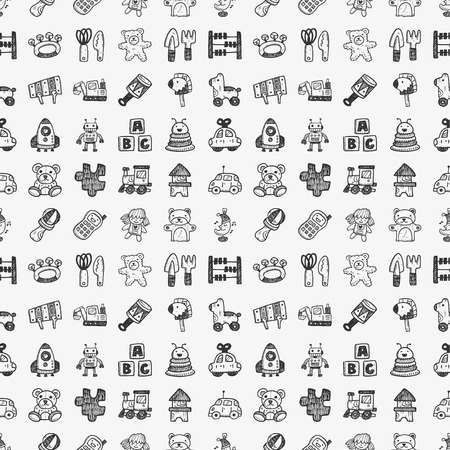 toys pattern: seamless doodle toy pattern Illustration