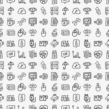 seamless doodle network pattern Vector