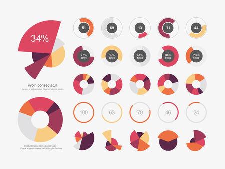 pie: Infographic Elements Pie chart set icon