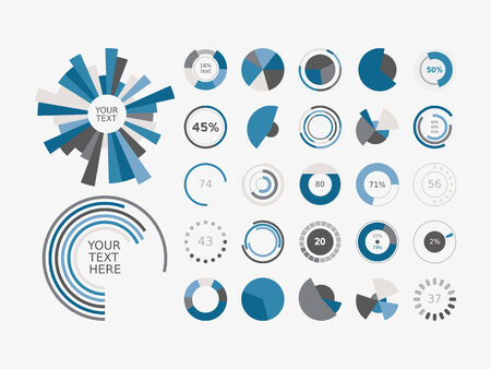 Infographic Elements Pie chart set icon Vector