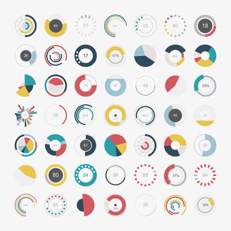 pie: Set of info-graphic pie charts