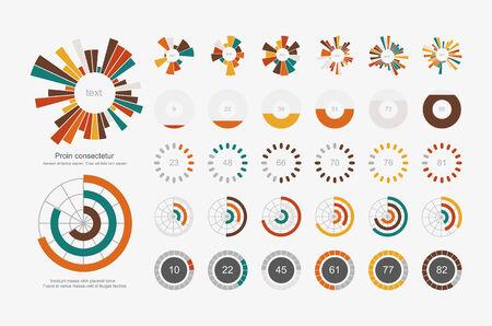 Infographic Elements.Pie chart set icon Vector