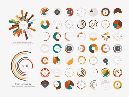 grafica de pastel: Infografía Elements.Pie conjunto de iconos de gráfico.